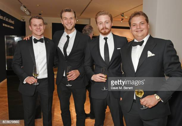 Jack Forsyth Wilf Scolding Jack Lowden and James Warren attend the world premiere of the 'The Great Eight Phantoms A RollsRoyce Exhibition' at...