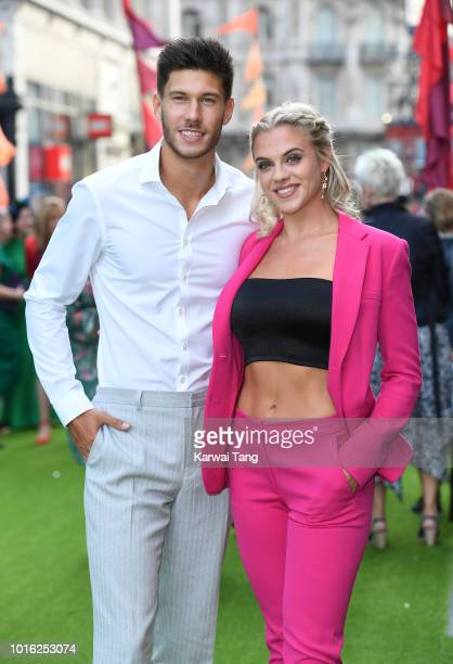 Jack Fowler and Laura Crane attend the World Premiere of 'The Festival' at Cineworld Leicester Square on August 13 2018 in London England