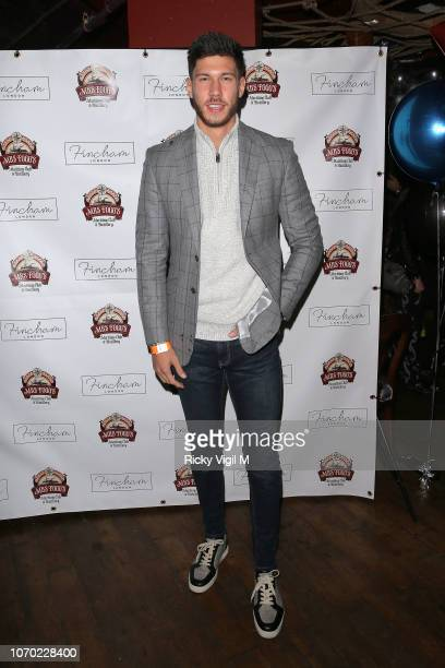 Jack Fowler during the launch of Jack Fincham's new pen range at Mrs Fogg's on November 20 2018 in London England