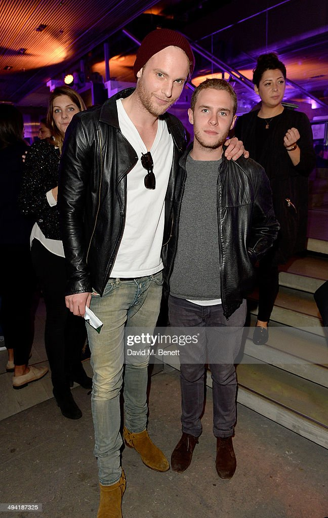 Jack Fox and Iain De Caestecker attend the Lacoste Store Reopening on May 28, 2014 in London, England.