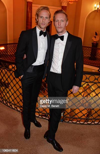Jack Fox and Laurence Fox attend The 64th Evening Standard Theatre Awards at the Theatre Royal Drury Lane on November 18 2018 in London England