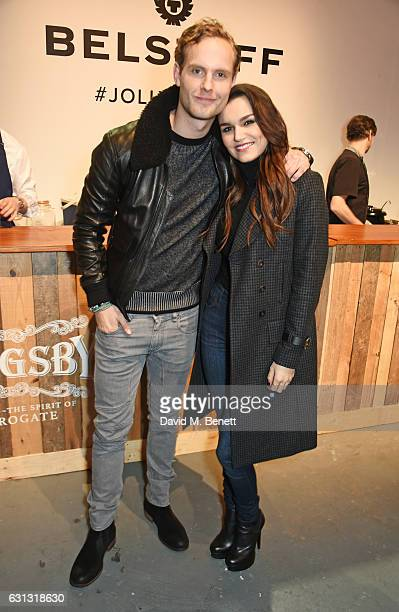 Jack Fox and Samantha Barks attend the Belstaff presentation during London Fashion Week Men's January 2017 collections at Ambika P3 on January 9 2017...