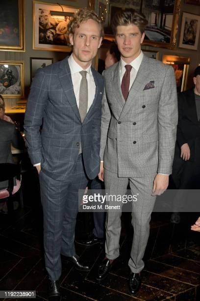 Jack Fox and Toby HuntingtonWhiteley attend the British GQ dinner cohosted by Dylan Jones Jack Guinness in partnership with JPHackett No14 Savile Row...