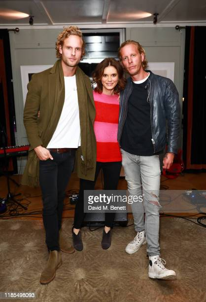 Jack Fox Emilia Fox and Laurence Fox attend the launch of Laurence Fox's new album A Grief Observed at The Groucho Club on November 04 2019 in London...