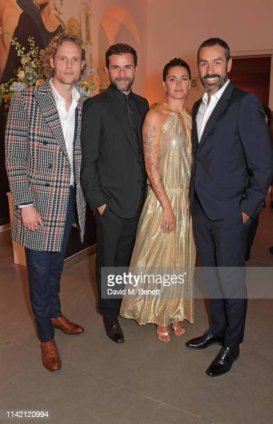 "Jack Fox, Gregory Fitoussi, Jessica Lemarie and Robert Pires attend the Premiere Screening for the new season of Sky Original ""Riviera"" at The..."