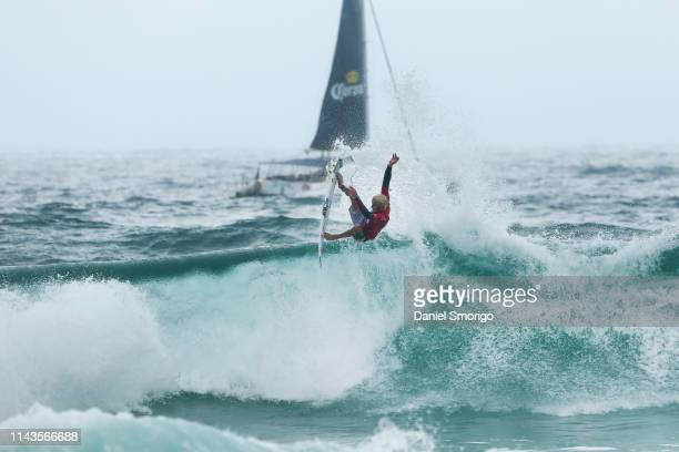 Jack Freestone of Australia competing in the 2016 Oi Rio Pro in Rio de Janeiro, Brazil in which he finished runner-up after placing second in the...