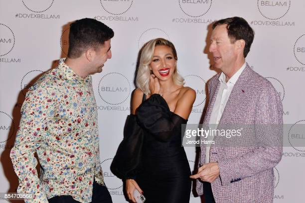 Jack Friedman Model Roz and BELLAMI CEO Scott Friedman attend Dove Cameron x BELLAMI Launch Party at Unici Casa Gallery on December 2 2017 in Culver...