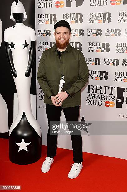 Jack Garratt attends the nominations launch for The Brit Awards 2016 at ITV Studios on January 14 2016 in London England