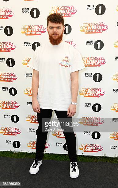 Jack Garratt poses for a photo during day 2 of BBC Radio 1's Big Weekend at Powderham Castle on May 29 2016 in Exeter England
