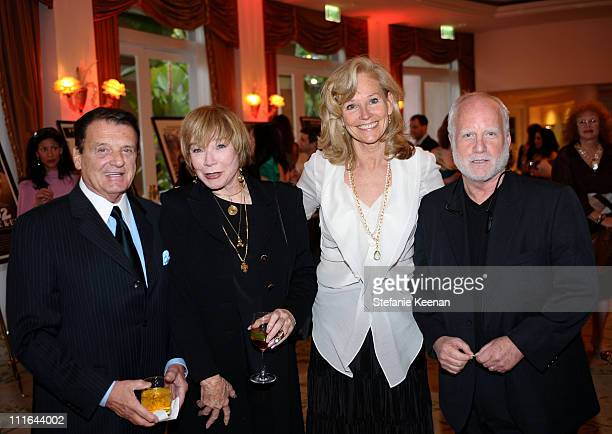 Jack Gilardi, actress Shirley MacLaine, Brenda Siemer-Scheider and actor Richard Dreyfuss attend Smiles from the Stars: A Tribute to the Life and...