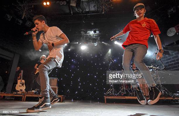 Jack Gilinsky and Jack Johnson of 'Jack and Jack' perform on stage at the Sala Bikini on November 4 2015 in Barcelona Spain