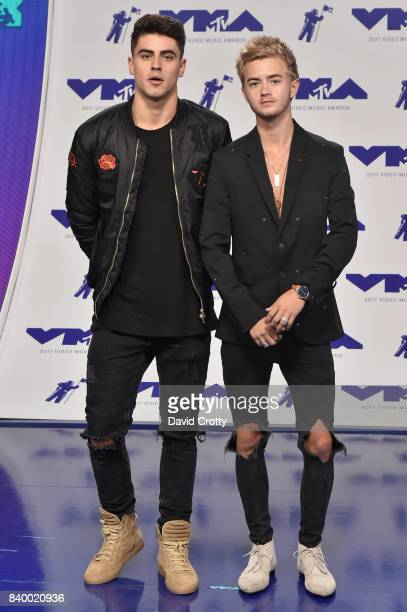 Jack Gilinsky and Jack Johnson of Jack Jack attend the 2017 MTV Video Music Awards at The Forum on August 27 2017 in Inglewood California