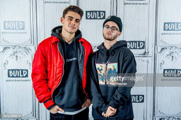 Jack Gilinsky and Jack Johnson of Jack Jack discuss the Macy's Thanksgiving Parade with the Build Series at Build Studio on November 20 2018 in New...