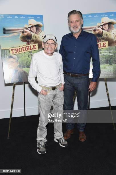 Jack Goldberg and actor Bill Pullman attend the 'Trouble' New York screening at Dolby Theater on September 17 2018 in New York City