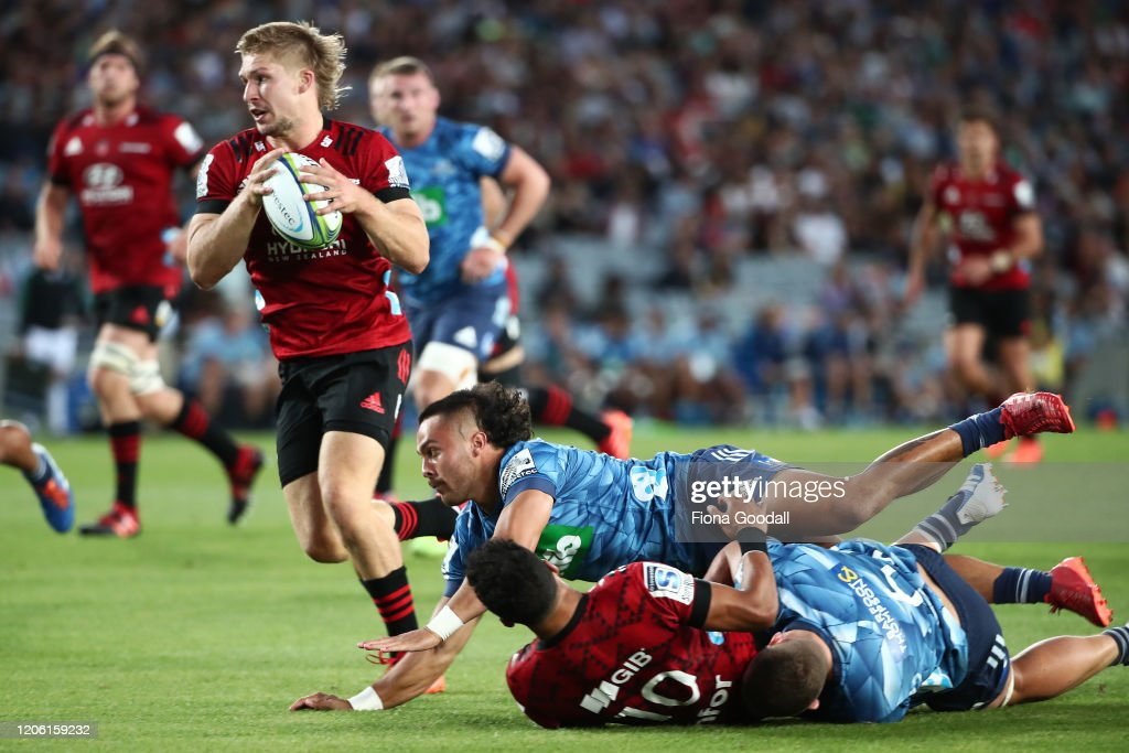 Super Rugby Rd 3 - Blues v Crusaders : News Photo