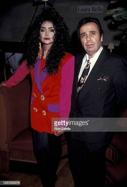 Jack Gordon and LaToya Jackson during LaToya Jackson Press Conference at Laura Belle in New York City New York United States