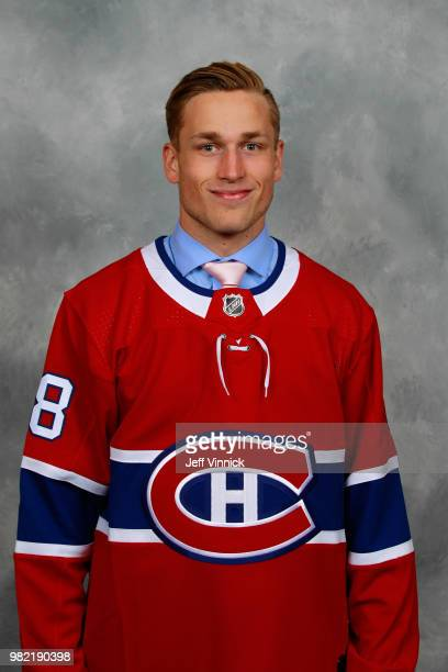 Jack Gorniak poses for a portrait after being selected 123rd overall by the Montreal Canadiens during the 2018 NHL Draft at American Airlines Center...