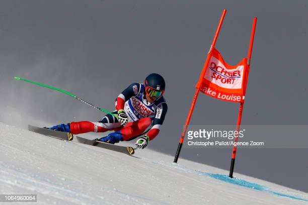 Jack Gower of Great Britain in action during the Audi FIS Alpine Ski World Cup Men's Downhill on November 24 2018 in Lake Louise Canada