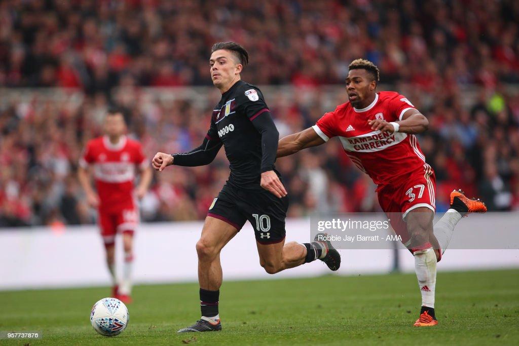 Middlesbrough v Aston Villa - Sky Bet Championship Play Off Semi Final:First Leg : News Photo
