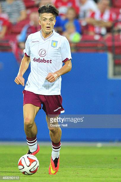Jack Grealish of Aston Villa controls the ball against FC Dallas during an international friendly on July 23 2014 at Toyota Stadium in Frisco Texas