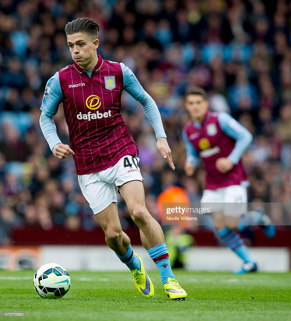 Jack Grealish of Aston Villa during the Barclays Premier League match between Aston Villa and West Ham United at Villa Park on May 09, 2015 in Birmingham, England.