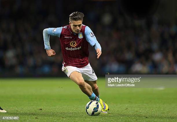 Jack Grealish of Aston Villa during the Barclays Premier League match between Aston Villa and Queens Park Rangers at Villa Park on April 7 2015 in...