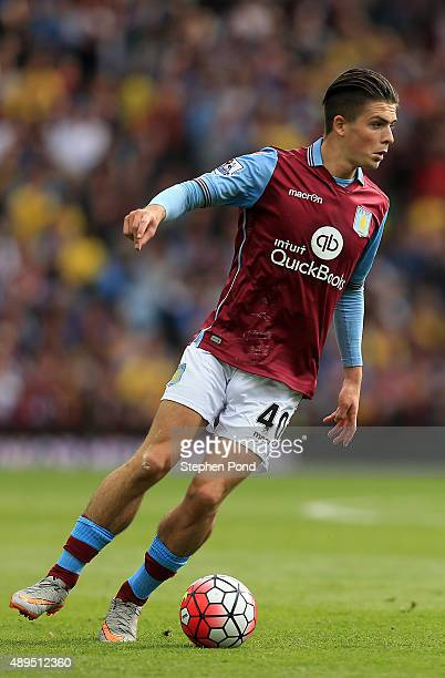 Jack Grealish of Aston Villa during the Barclays Premier League match between Aston Villa and West Bromwich Albion at Villa Park stadium on September...