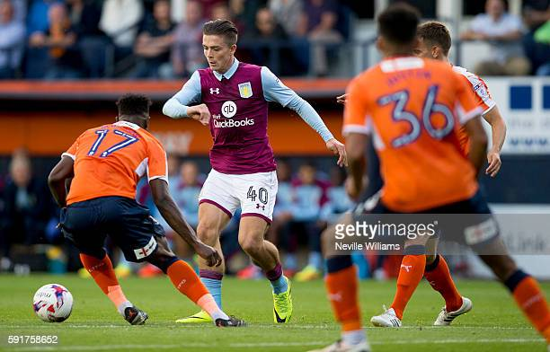 Jack Grealish of Aston Villa during the EFL Cup first round match between Luton Town and Aston Villa at Kenilworth Road on August 10 2016 in Luton...
