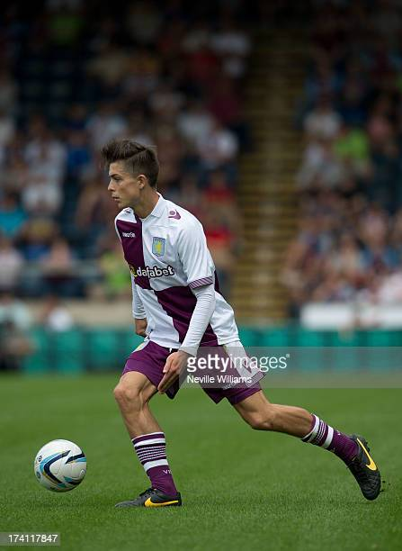 Jack Grealish of Aston Villa during the Pre Season Friendly match between Wycombe Wanderers and Aston Villa at Adams Park on July 20 2013 in High...