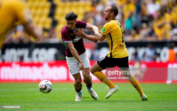 Jack Grealish of Aston Villa during the PreSeason Friendly match between Dynamo Dresden and Aston Villa at the DDV Stadion on July 28 2018 in Dresden...