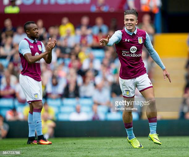 Jack Grealish of Aston Villa during the Pre-Season Friendly match between Aston Villa and Middlesbrough at Villa Park on July 30, 2016 in Birmingham,...