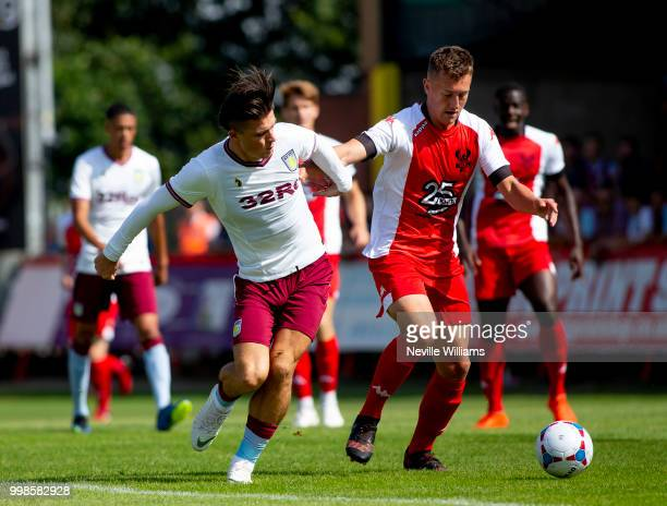 Jack Grealish of Aston Villa during the PreSeason Friendly match between Kidderminster Harriers and Aston Villa at the Aggborough Stadium on July 14...