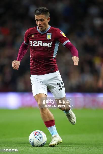 Jack Grealish of Aston Villa during the Sky Bet Championship match at Villa Park on September 18 2018 in Birmingham England