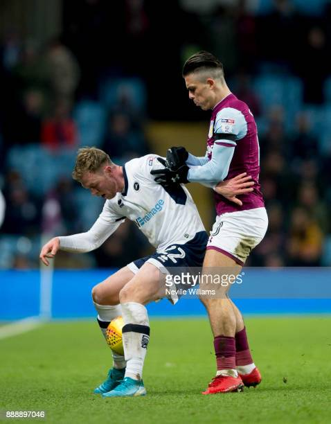 Jack Grealish of Aston Villa during the Sky Bet Championship match between Aston Villa and Millwall at Villa Park on December 09 2017 in Birmingham...