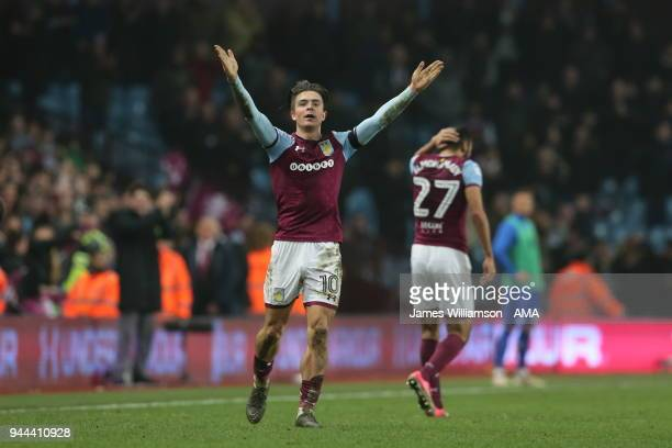 Jack Grealish of Aston Villa during the Sky Bet Championship match between Aston Villa v Cardiff City at Villa Park on April 10 2018 in Birmingham...