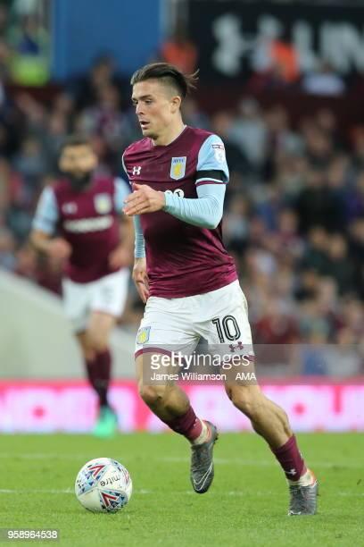 Jack Grealish of Aston Villa during the Sky Bet Championship Play Off Semi FinalSecond Leg match between Aston Villa and Middlesbrough at Villa Park...