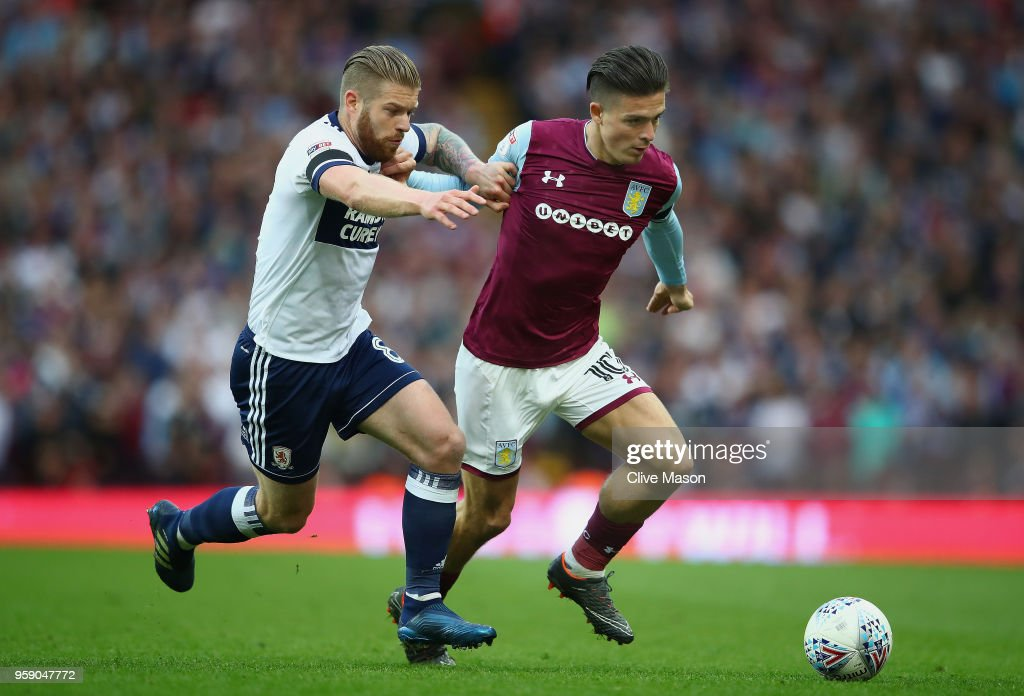 Aston Villa v Middlesbrough - Sky Bet Championship Play Off Semi Final:Second Leg : News Photo