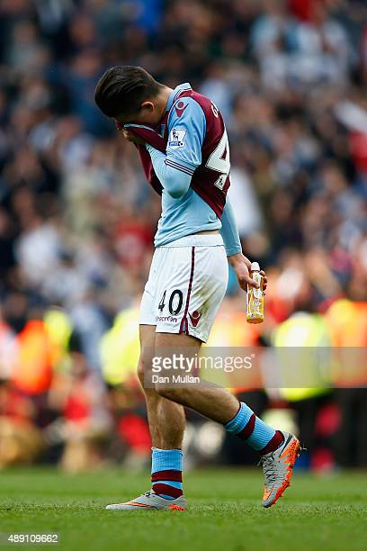 Jack Grealish of Aston Villa leaves the pitch after his team's 01 defeat in the Barclays Premier League match between Aston Villa and West Bromwich...