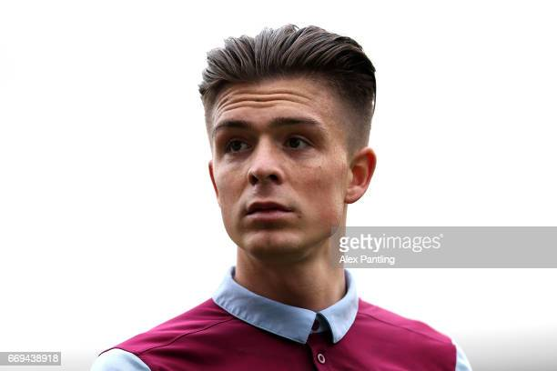 Jack Grealish of Aston Villa looks on during the Sky Bet Championship match between Fulham and Aston Villa at Craven Cottage on April 17 2017 in...