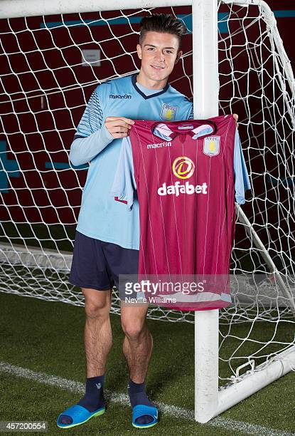 Jack Grealish of Aston Villa poses for a picture at the club's training ground at Bodymoor Heath on October 14 2014 in Birmingham England