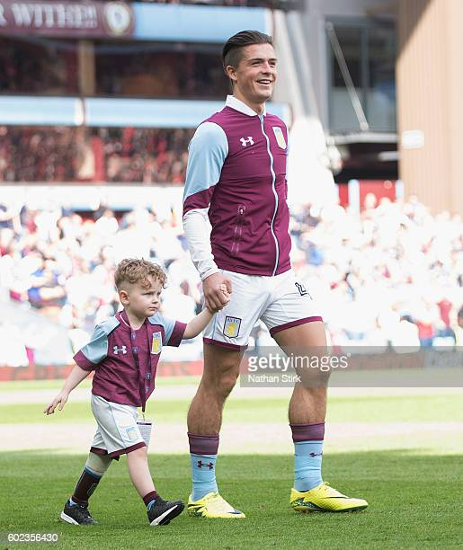 Jack Grealish of Aston Villa walks out of the tunnel before the Sky Bet Championship match between Aston Villa and Nottingham Forest at Villa Park on...