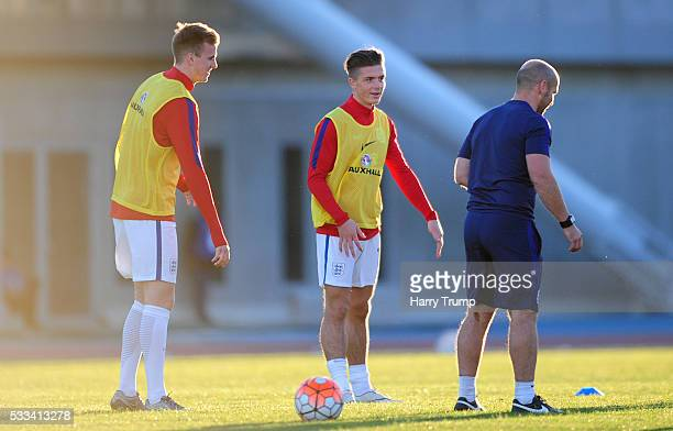 Jack Grealish of England during the Toulon Tournament match between England and Portugal at Stadium Leo Lagrange on May 19 2016 in Toulon France