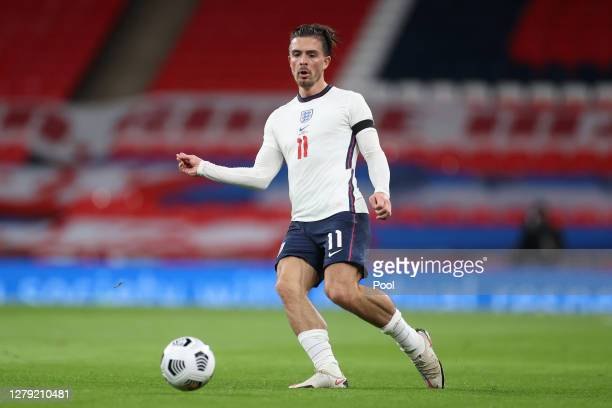 Jack Grealish of England in action during the international friendly match between England and Wales at Wembley Stadium on October 08, 2020 in...