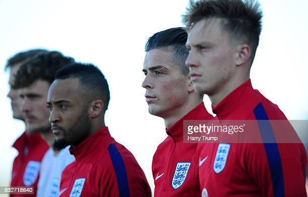 Jack Grealish of England looks on during the Toulon Tournament match between England and Portugal at Stadium Leo Lagrange on May 19 2016 in Toulon...