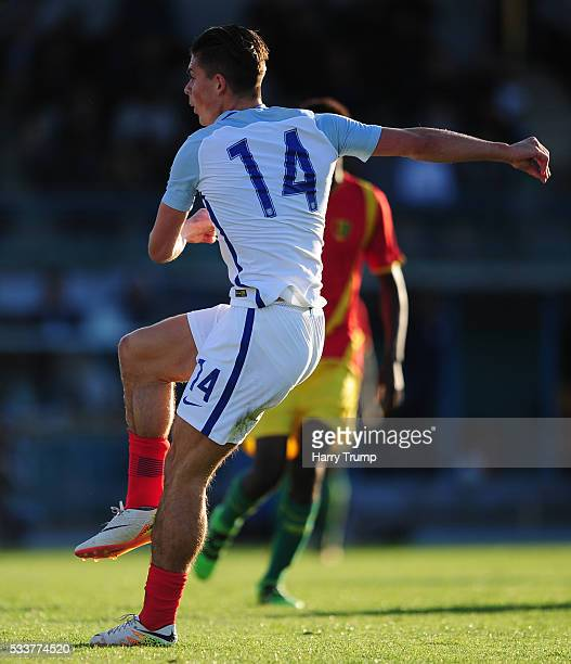 Jack Grealish of England scores his sides first goal during the Toulon Tournament match between England and Guinea at Stade De Lattre on May 23 2016...