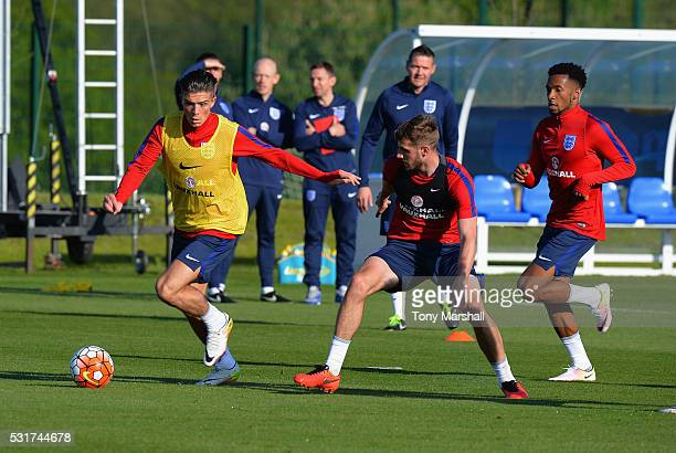 Jack Grealish of England U21 during the England U21 Training Session and Press Conference at St Georges Park on May 16 2016 in BurtonuponTrent England