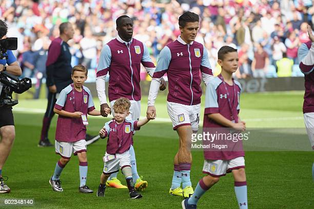 Jack Grealish of villa walks out of the tunnel before the Sky Bet Championship match between Aston Villa and Nottingham Forest at Villa Park on...