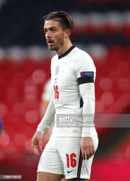 Jack Grelish of England during the UEFA Nations League group stage match between England and Iceland at Wembley Stadium on November 18, 2020 in...