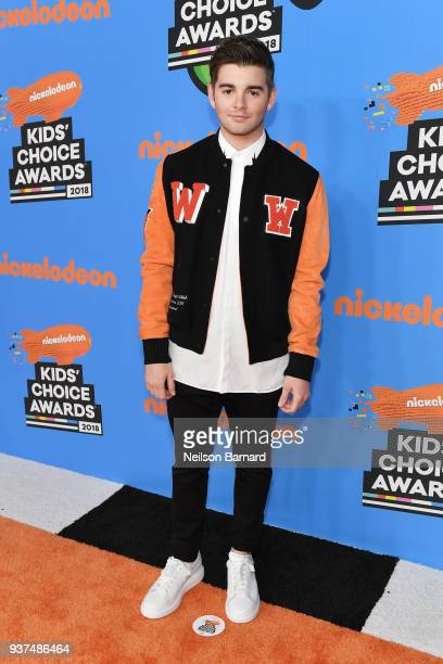 Jack Griffo attends Nickelodeon's 2018 Kids' Choice Awards at The Forum on March 24 2018 in Inglewood California