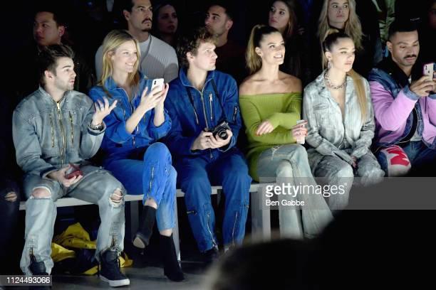 Jack Griffo Charlott Cordes Warren Elgort Nina Agdal and Delilah Belle Hamlin attend the John John Fashion Show during New York Fashion Week at...